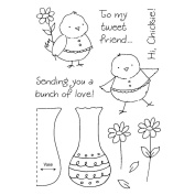 Honeypop Clear Stamp Set-Flower Chick