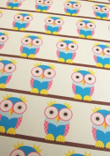 Owl Rolled Gift Wrap