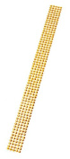 DARICE GEMZ58 4mm Gemz Round Crystal Stickers, 1 by 12-Inch, Gold