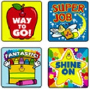 CARSON DELLOSA CD-0648 STICKERS WINNING WORDS 120 PACK ACID AND LIGNIN FREE