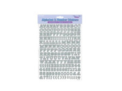 Forever In Time Scrapbook Stickers, Alphabets and Numbers, 1.6cm , 360 Per Package, 2 Sheets Per Package, Silver
