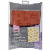 Sizzix 657771 Textured Impressions Embossing Folder with Stamp by Hero Arts, Mixed Flowers Set