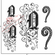 Something Tattered Q Initial Monogram Clear Stamps, 10cm by 10cm