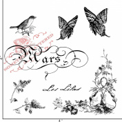 Something Tattered March Mars French Month Clear Stamps, 10cm by 10cm