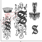 Something Tattered Z Initial Monogram Clear Stamps, 10cm by 10cm