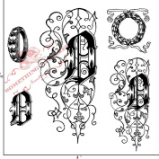 Something Tattered O Initial Monogram Clear Stamps, 10cm by 10cm