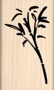 Bamboo Rubber Stamp - 2.5cm - 1.3cm x 5.1cm - 1.3cm