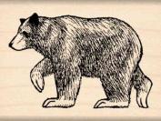 Bear Rubber Stamp - 2.5cm - 1.3cm x 5.1cm