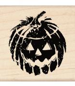Inkadinkado Wood Mounted Rubber Stamp LL, Jack 'o Lantern
