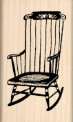 Rocking chair Rubber Stamp - 2.5cm - 1.3cm x 5.1cm - 1.3cm
