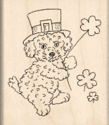St. Patrick Dog Rubber Stamp - 2.5cm - 1.9cm x 5.1cm