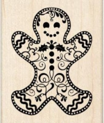 Wood Mounted Rubber Stamp DD