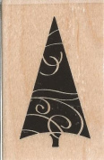 Curvy Tree Small Wood Mounted Rubber Stamp