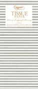 Entertaining with Caspari Tissue Paper, Seersucker Stripe Silver, 4-Sheets