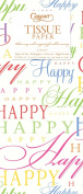 Entertaining with Caspari Tissue Paper, Happy Times, 4-Sheets