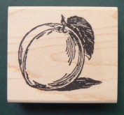 Peach rubber stamp