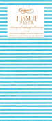 Entertaining with Caspari Tissue Paper, Seersucker Stripe Turquoise, 4-Sheets