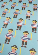 Pirate Rolled Gift Wrap