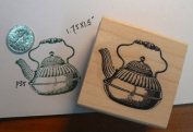 Teapot rubber stamp P35