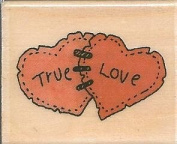 True Love Hearts Boyds Collection Wood Mounted Rubber Stamp