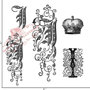 Something Tattered I Initial Monogram Clear Stamps, 10cm by 10cm