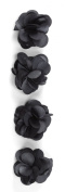 Jolee's Boutique Dimensional Stickers, Charcoal Satin Flowers