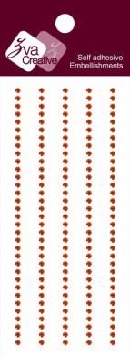 Zva Creative CRW-03CB-117 Crystal Sticker, Orange Strips
