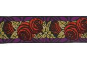 Dove of the East Paris Vintage Fallen Roses Brocade Ribbon for Scrapbooking, 1-Yard
