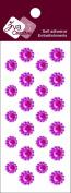 Zva Creative CRW-06CA-150 Crystal Sticker, Rosy Flower Accents