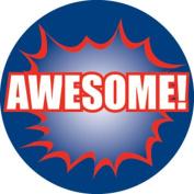 Ace Label 17589C 'Awesome!' Teacher School Stickers, 2.5cm , Multicolor, 100 Per Roll