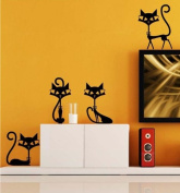 Black Cats Sticker Wall Decal Home Decor for Bar Living Room Bed Room Stairs Study-S