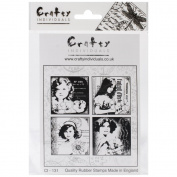 Crafty Individuals Unmounted Rubber Stamp 12cm x 18cm Pkg-4 Pretty Young Girls