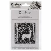 Crafty Individuals Unmounted Rubber Stamp 12cm x 18cm Pkg-Magical Reindeer