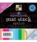 Diecuts With A View - Dcwv Adhesive Texture Brights Mat Stack 48 Sheets