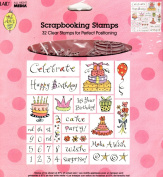 Birthday Set of 32 Clear Scrapbooking Stamps