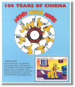 "100 Years of Cinema Mickey mouse Movies ""Pluto and the fly Paper"" disney Stamp"