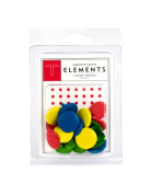 American Crafts Elements Large Brads, Primaries