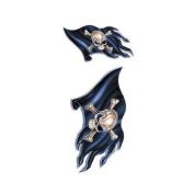 Pirate Flags Decorative Sticker Decal By MFD - 2 Sticker Set