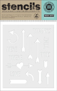 Hero Arts Arrows and Messages Stencil
