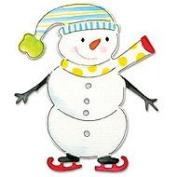 Sizzix Bigz BIGkick/Big Shot Die-Snowman With Skates