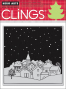 Snowing Village Cling Stamps