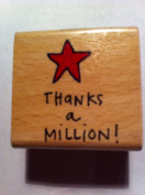 Thanks a Million! With Star Rubber Stamp