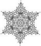 Crochet Snowflake 3 Wood Mounted Rubber Stamp