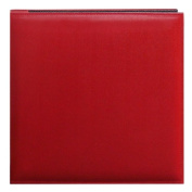 Pioneer 30cm by 30cm Snapload Sewn Leatherette Memory Book, Red