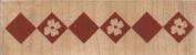 Flower Block Border Wood Mounted Rubber Stamp