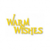Warm Wishes Phrase Easy Emboss Metal Stencil with Embossing Folder