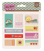 BasicGrey Hey Girl Collection Metal Flair Stickers