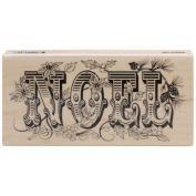 Penny Black Mounted Rubber Stamp 5.7cm x 13cm -Antique Noel