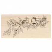 Penny Black Mounted Rubber Stamp 6.4cm x 13cm -Holly Concert
