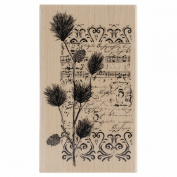 Penny Black Mounted Rubber Stamp 7cm x 13cm -Christmas Notes